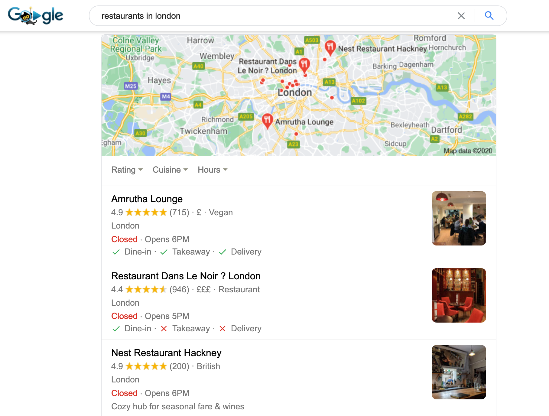 Google-map-pack-results-example