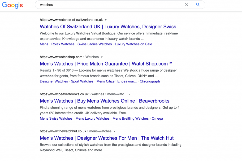 search results for watches